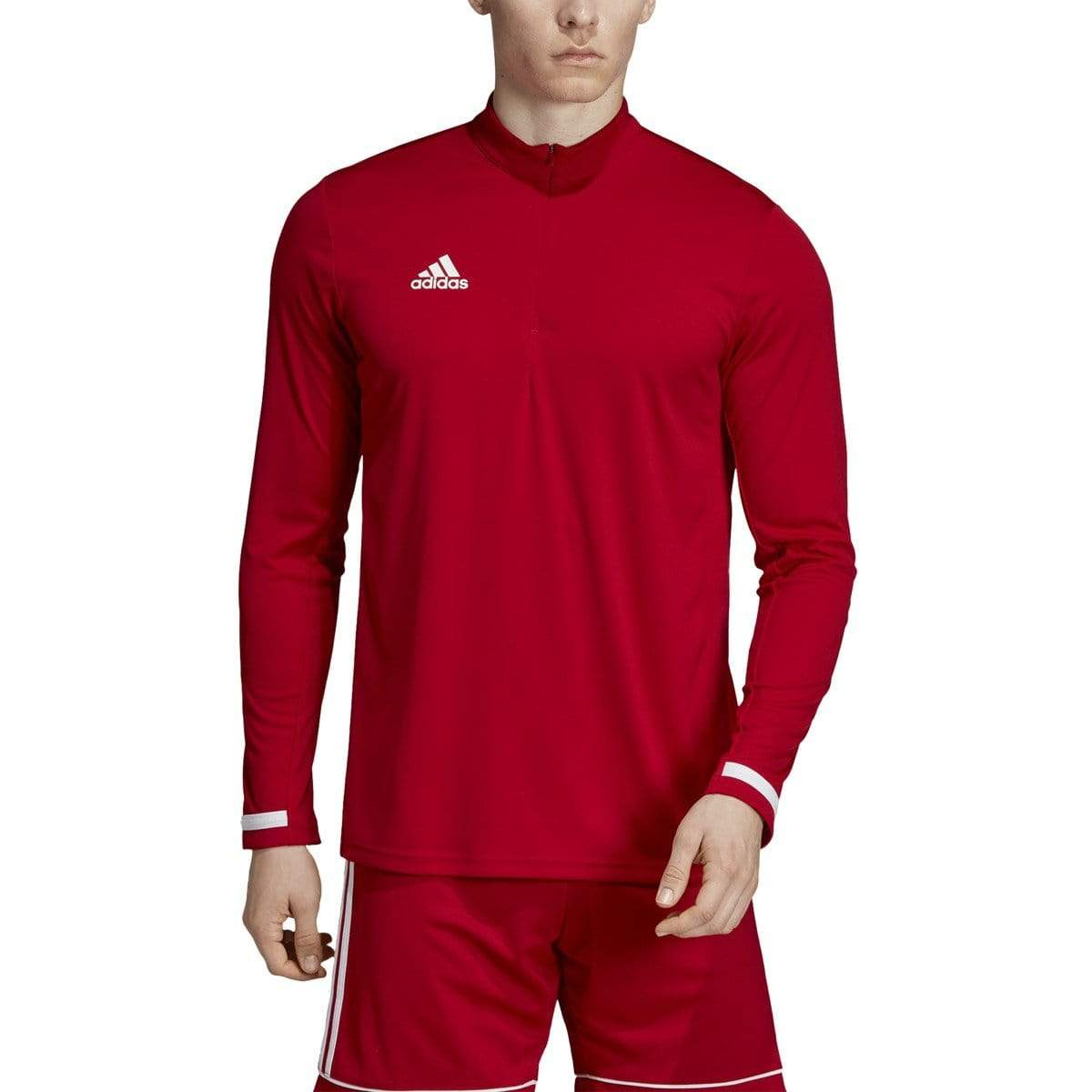 adidas Activewear S / Red Adidas - Men's Team 19 Long Sleeve 1/4 Zip