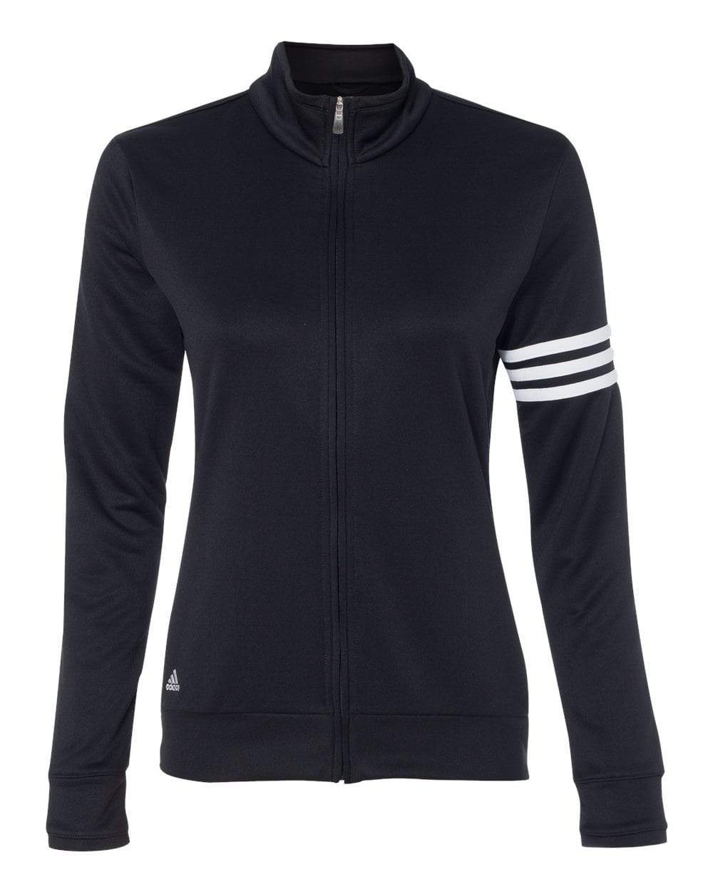 adidas Layering S / BLACK/WHITE Adidas Women's Golf ClimaLite 3-Stripes French Terry Full-Zip Jacket