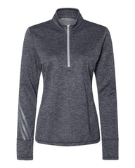 adidas Layering S / Navy Heather Adidas - Women's Brushed Terry Heathered Quarter-Zip