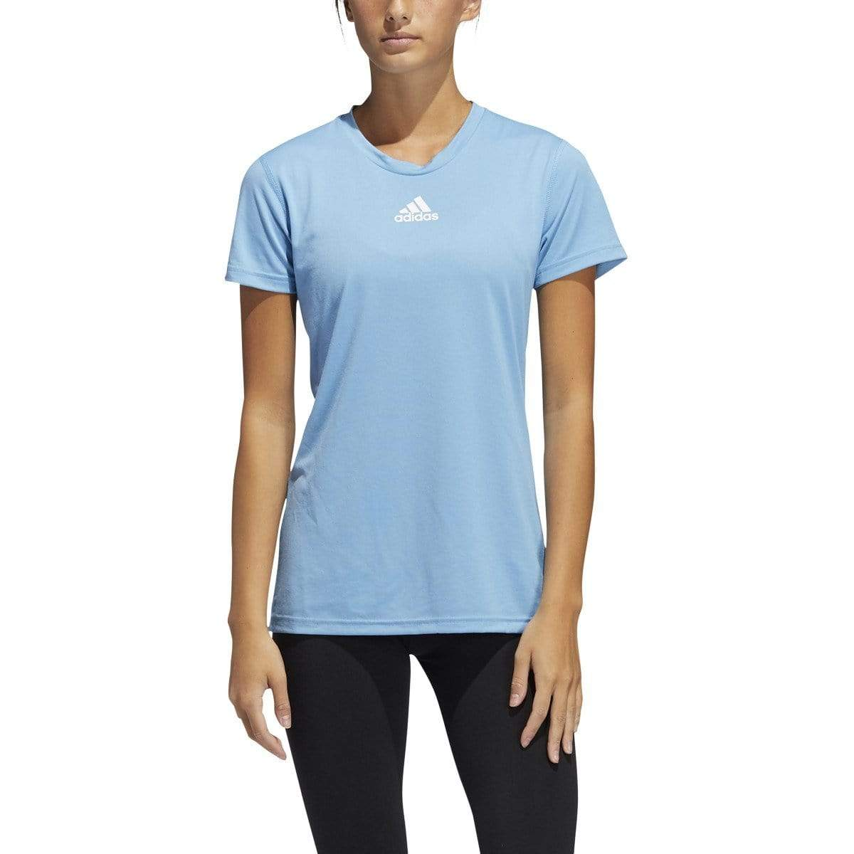 adidas T-shirts XS / Light Blue/White adidas - Women's Creator Short Sleeve Tee