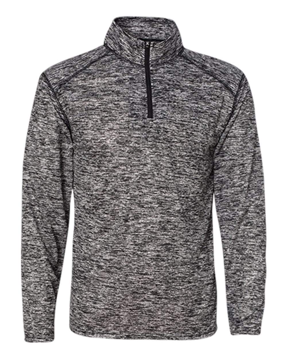 Badger Sport Layering S / BLACK Badger Men's Blend Quarter-Zip Pullover