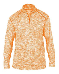 Badger Sport Layering S / BURNT ORANGE Badger Men's Blend Quarter-Zip Pullover