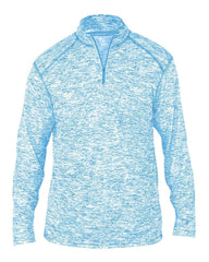 Badger Sport Layering S / COLUMBIA BLUE Badger Men's Blend Quarter-Zip Pullover