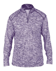 Badger Sport Layering S / PURPLE Badger Men's Blend Quarter-Zip Pullover