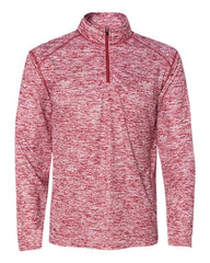 Badger Sport Layering S / RED Badger Men's Blend Quarter-Zip Pullover