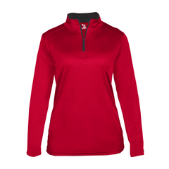 Badger Sport Layering XS / RED Badger - B-Core Ladies Quarter-Zip