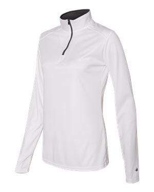 Badger Sport Layering XS / WHITE Badger - B-Core Ladies Quarter-Zip