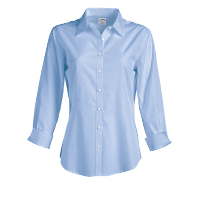 Brooks Brothers Woven Shirts 2 / LIGHT BLUE Brooks Brothers Women's Non-Iron 3/4 Sleeve Fitted Dress Shirt