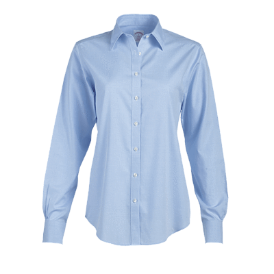 Brooks Brothers Woven Shirts 2 / LIGHT BLUE Brooks Brothers Women's Non-Iron Long Sleeve Shirt