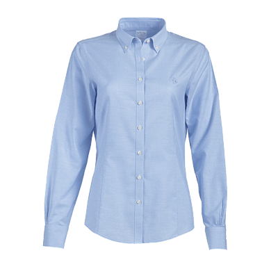Brooks Brothers Woven Shirts 2 / LIGHT BLUE Brooks Brothers Women's Tailored Fit Button-Down Collar Non-Iron Oxford Shirt