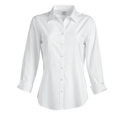 Brooks Brothers Woven Shirts 2 / WHITE Brooks Brothers Women's Non-Iron 3/4 Sleeve Fitted Dress Shirt