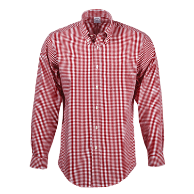 Brooks Brothers Woven Shirts S / RED Brooks Brothers Men's Madison Fit Non-Iron Gingham Sport Shirt