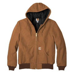 Carhartt Outerwear S / Brown Carhartt® - Quilted-Flannel-Lined Duck Active Jac