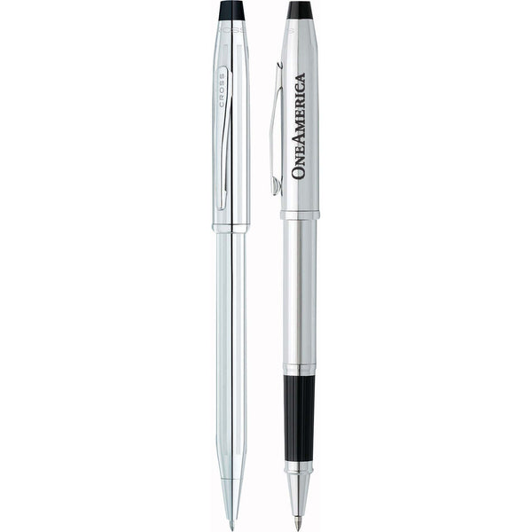 Cross Accessories 6 piece minimum / Silver Cross - Century II Lustrous Chrome Pen Set