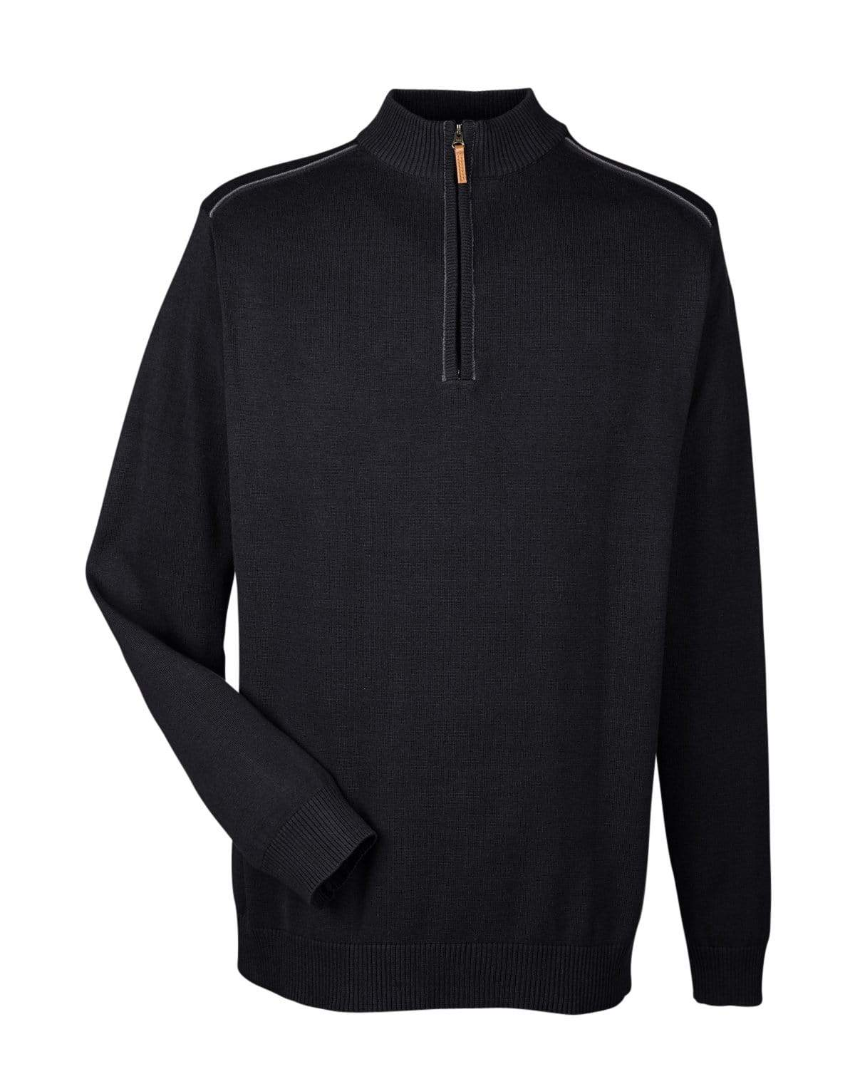 Devon & Jones Layering S / BLACK/GRAPHITE Devon & Jones Men's Manchester Quarter-Zip Sweater