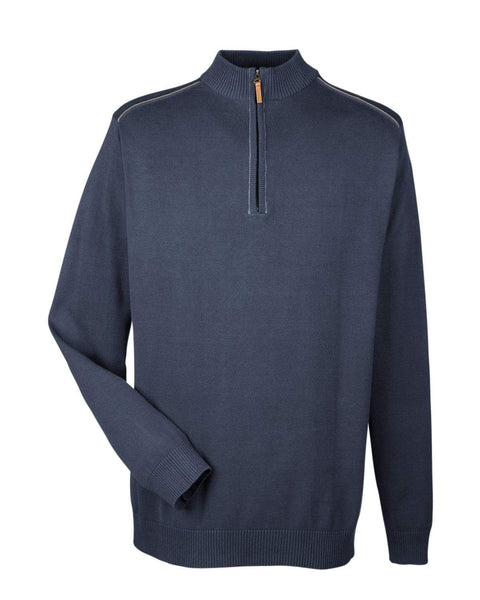 Devon & Jones Layering S / NAVY/GRAPHITE Devon & Jones Men's Manchester Quarter-Zip Sweater