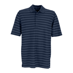 Greg Norman Polos S / Navy / White Greg Norman - Play Dry® Performance Striped Mesh Polo