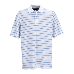Greg Norman Polos S / White / Cobalt Greg Norman - Play Dry® Performance Striped Mesh Polo