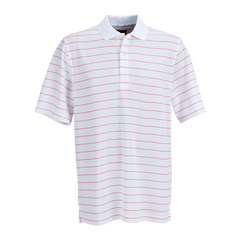 Greg Norman Polos S / White / red Greg Norman - Play Dry® Performance Striped Mesh Polo