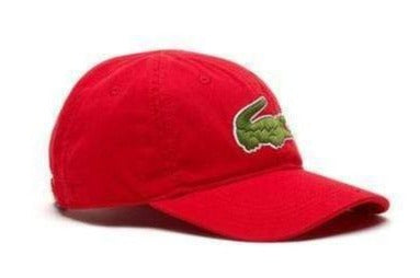 Lacoste Headwear One Size / RED Lacoste Men's Large Croc Gabardine Cap
