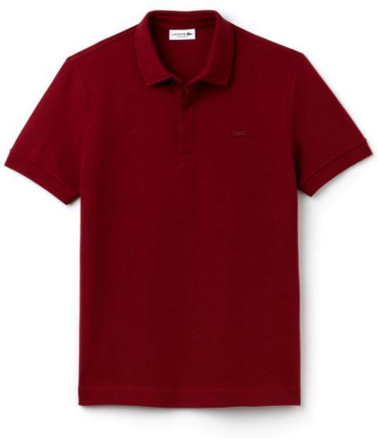 Lacoste Polos S / Marino Lacoste MEN'S PARIS EDITION REGULAR FIT STRETCH PIQUÉ POLO