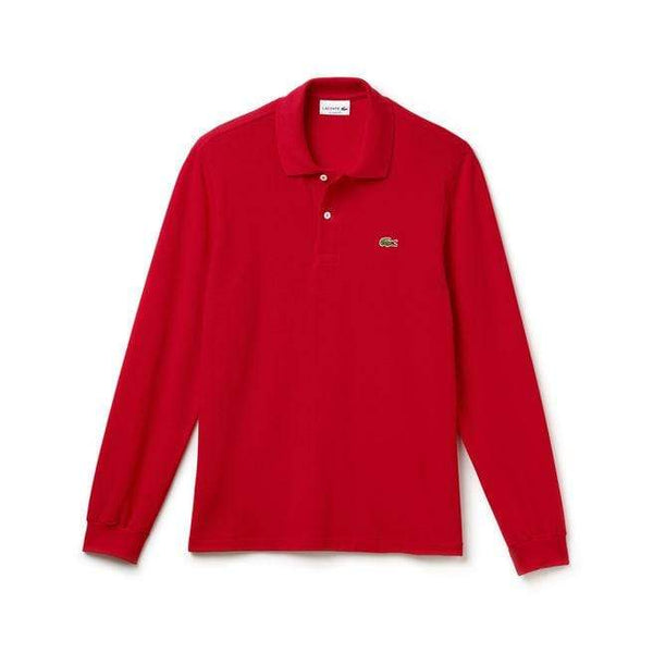 Lacoste Polos XS / RED Lacoste Men's Long Sleeve Classic Pique Polo