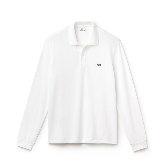 Lacoste Polos XS / WHITE Lacoste Men's Long Sleeve Classic Pique Polo