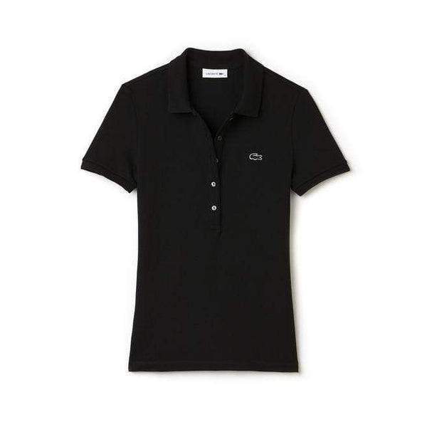 Lacoste Polos XXS / BLACK Lacoste Women's Slim Fit Stretch Mini Cotton Pique Polo