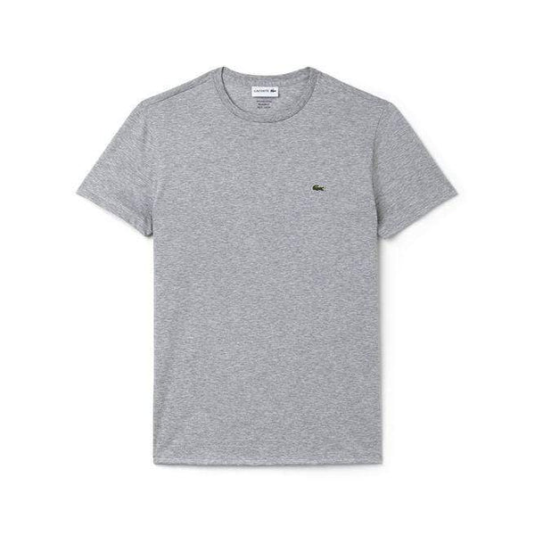 Lacoste T-shirts XS / SILVER CHINE Lacoste Men's Short Sleeve Pima Jersey Crewneck