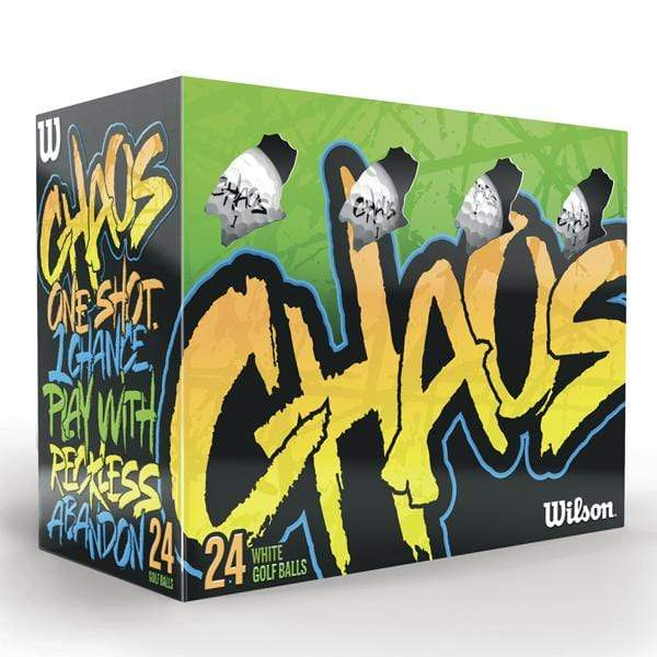 Minimum purchase is 12 boxes of a 24 balls Accessories 24 ball box / White Wilson - Custom Chaos Box of a 24 balls