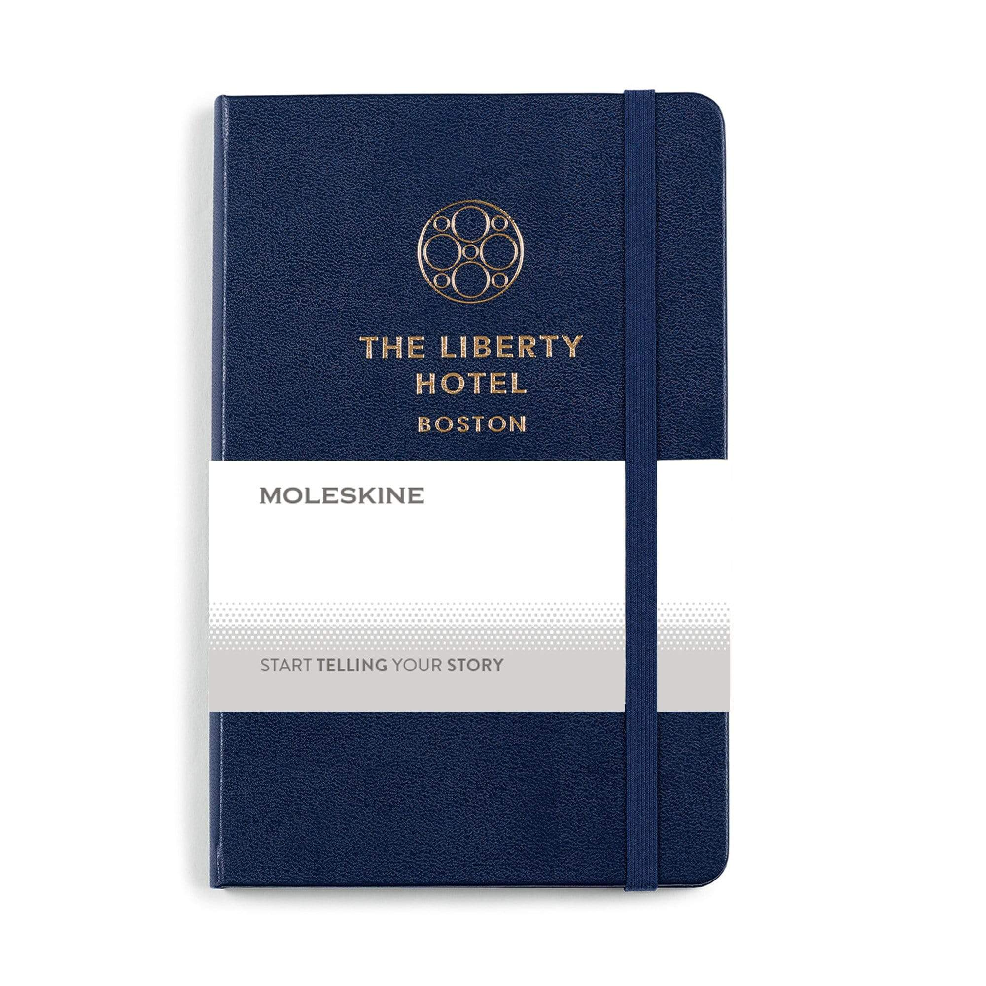 Moleskine - 25 piece minimum Accessories 25 piece minimum / Navy Moleskine - medium Hard cover Notebook and GO Pen Gift Set