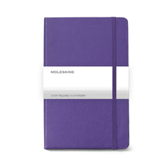 Moleskine - 25 piece minimum Accessories 25 piece minimum / PURPLE Moleskine® Hard Cover Ruled Large Notebook (5