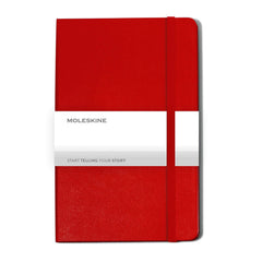Moleskine - 25 piece minimum Accessories 25 piece minimum / RED Moleskine® Hard Cover Ruled Large Notebook (5