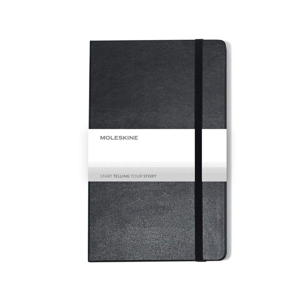 "Moleskine - 25 piece minimum Accessories OSFA / BLACK Moleskine® Hard Cover Plain Large Notebook (5"" x  8.25"")"