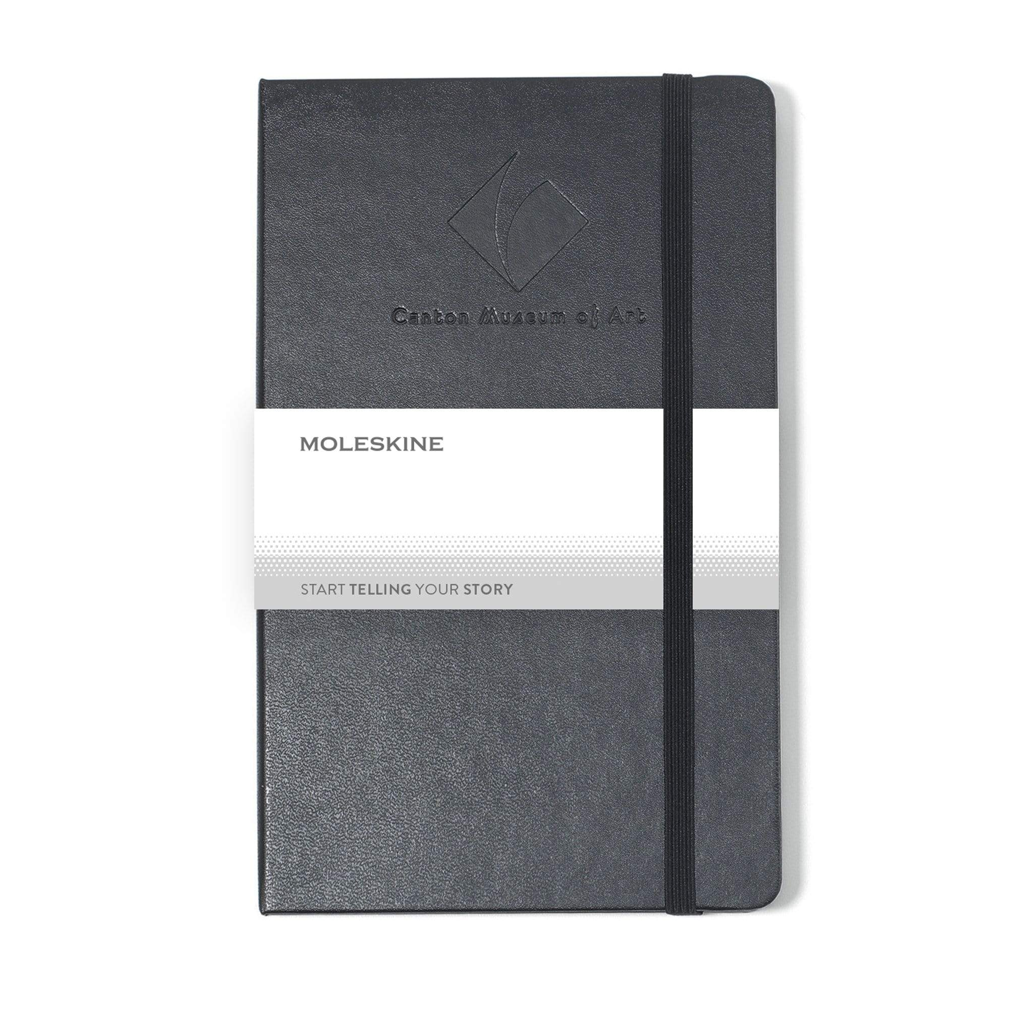 "Moleskine - 25 piece minimum Accessories OSFA / BLACK Moleskine® Hard Cover Ruled Large Notebook (5"" x  8.25"")"