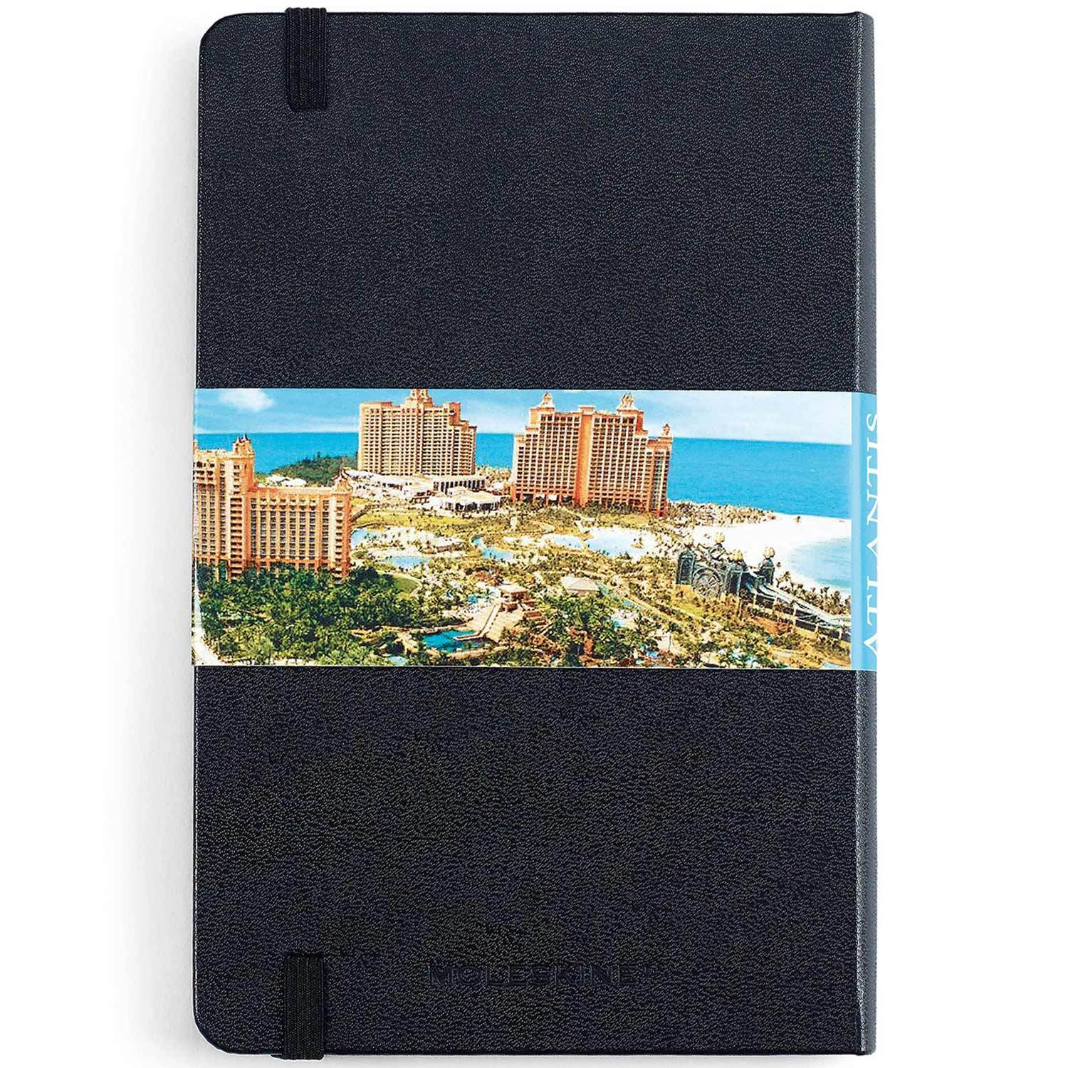 "Moleskine - 25 piece minimum Accessories OSFA / BLACK Moleskine® Hard Cover Ruled Medium Notebook (4.5"" x 7"")"