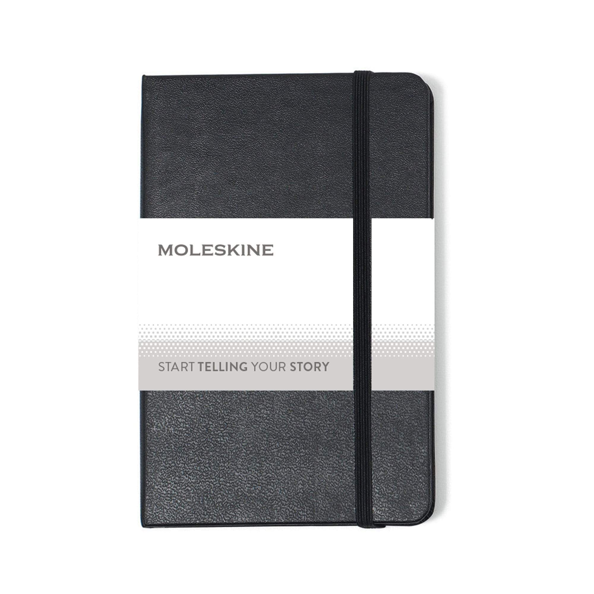 "Moleskine - 25 piece minimum Accessories OSFA / BLACK Moleskine® Hard Cover Ruled Pocket Notebook (3.5"" x 5.5"")"