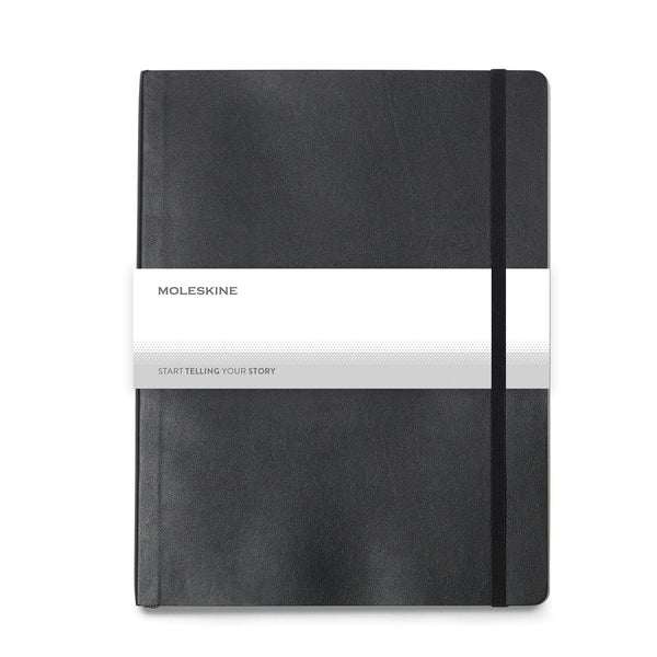 "Moleskine - 25 piece minimum Accessories OSFA / BLACK Moleskine® Soft Cover Ruled Extra Large Notebook (7.5"" x 9.75"")"