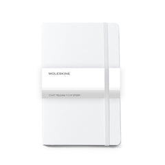 Moleskine - 25 piece minimum Accessories OSFA / WHITE Moleskine® Hard Cover Ruled Large Notebook (5