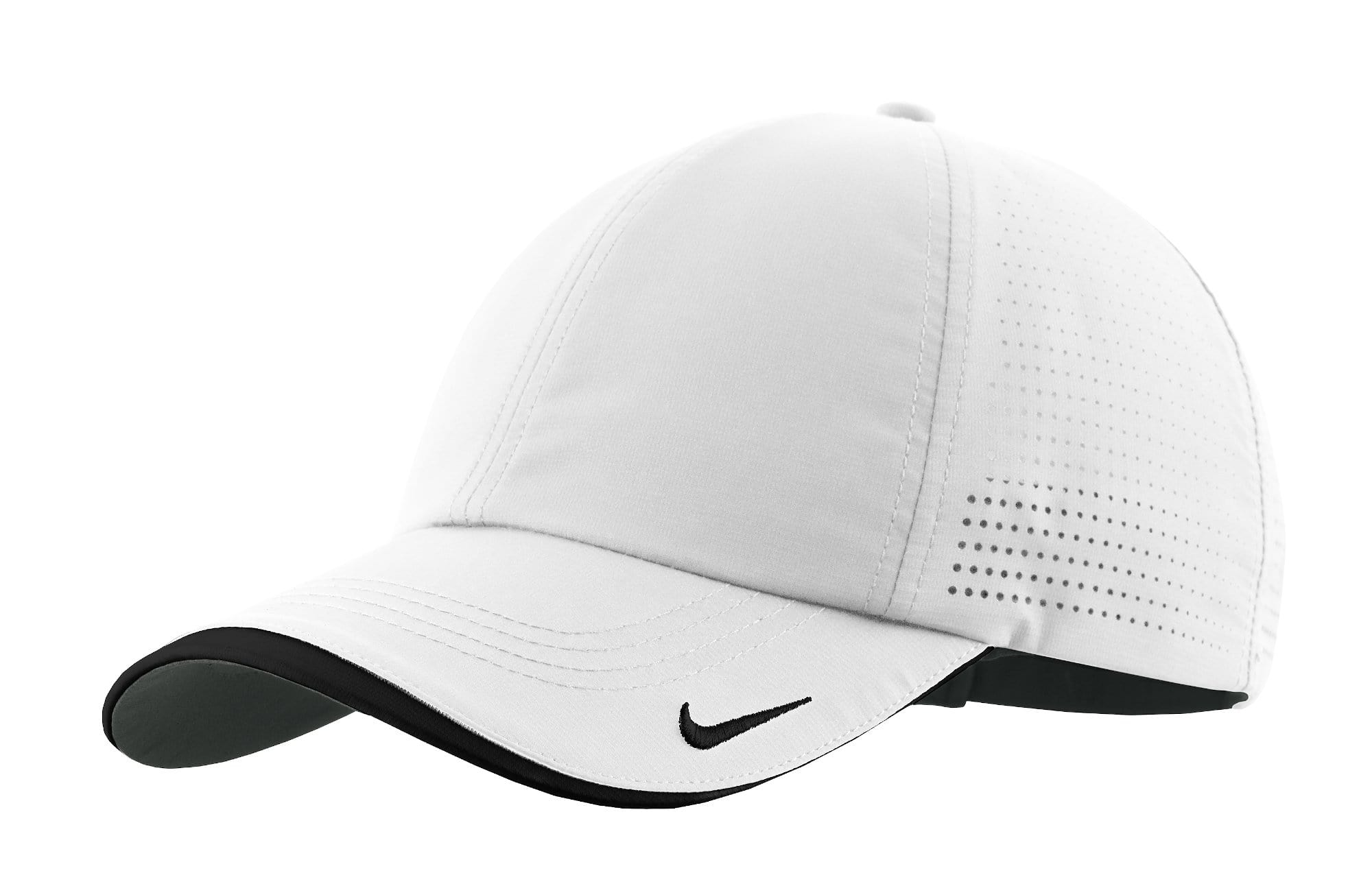 Nike Headwear ONE SIZE / WHITE Nike - Dri-FIT Swoosh Perforated Cap