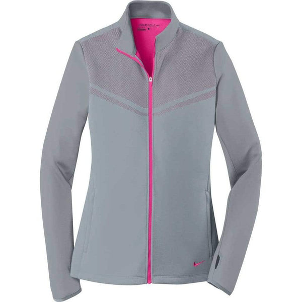 Nike Layering S / COOL GREY/VIVID PINK Nike Golf Ladies Therma-FIT Hypervis Full-Zip Jacket