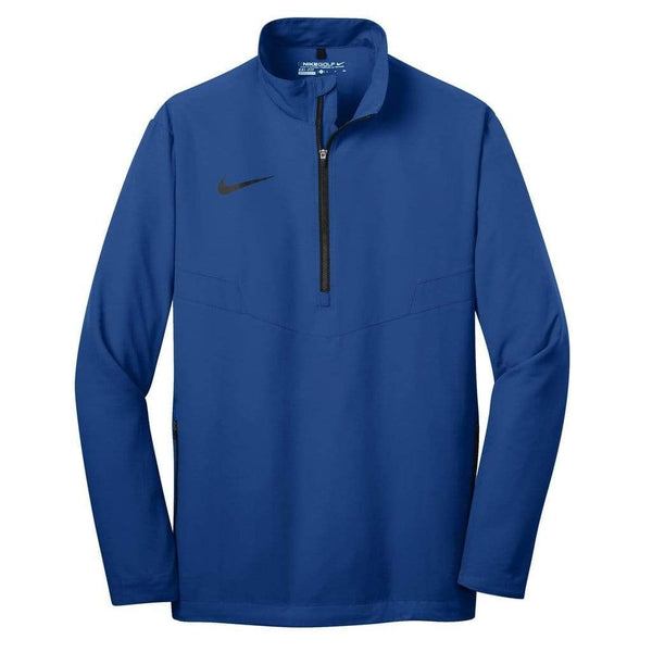 Nike Layering XS / GYM BLUE/BLACK Nike Golf Men's 1/2-Zip Wind Shirt