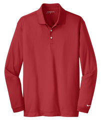 Nike Polos XS / Varsity Red Nike - Long Sleeve Dri-FIT golf Stretch Tech Polo