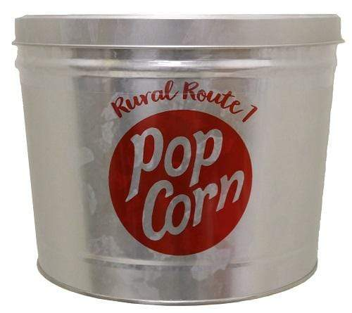 Rural Route 1 Accessories RURAL ROUTE 1 Galvanized Popcorn Tin