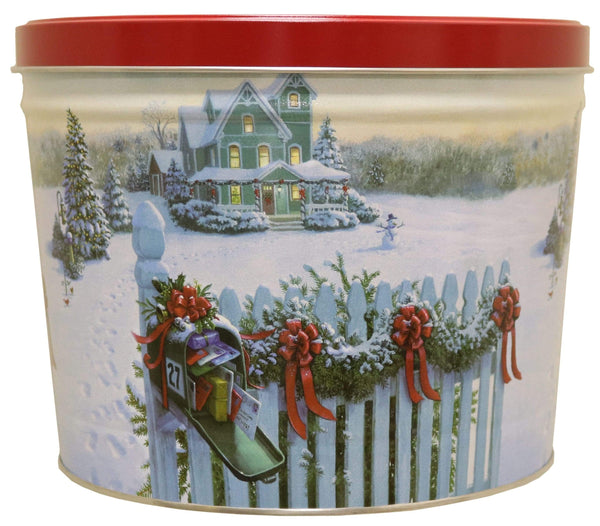 Rural Route 1 Gifting CHEDDAR CHEESE/CARAMEL/NATURAL / CHRISTMAS MAIL Rural Route 1 Popcorn - Christmas Mail Popcorn Tin