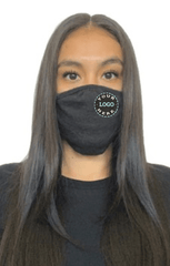 Ships in 16-21 business days. Minimum size pack of 48 Accessories 48 Mask Pack / Heather Black Decorated Eco 2 ply (Recycled poly / Cotton) washable Masks - starting at packs of 48