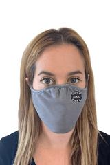 Ships in 16-21 business days. Minimum size pack of 48 Accessories 48 Mask Pack / Heather Grey Decorated Eco 2 ply (Recycled poly / Cotton) washable Masks - starting at packs of 48