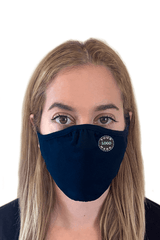 Ships in 16-21 business days. Minimum size pack of 48 Accessories 48 Mask Pack / Navy Decorated Eco 2 ply (Recycled poly / Cotton) washable Masks - starting at packs of 48
