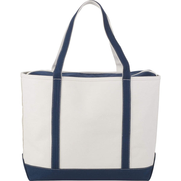 Threadfellows Bags Navy Premium 24oz Cotton Canvas Zippered Boat Tote