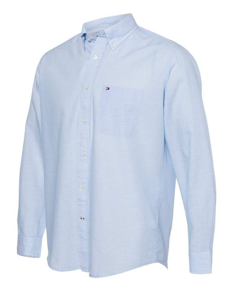 Tommy Hilfiger Woven Shirts S / Placid Blue Tommy Hilfiger - Cotton/Linen Long Sleeve Shirt